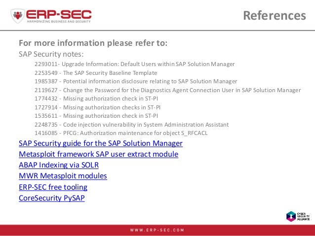 References For more information please refer to: SAP Security notes: 2293011- Upgrade Information: Default Users within SA...