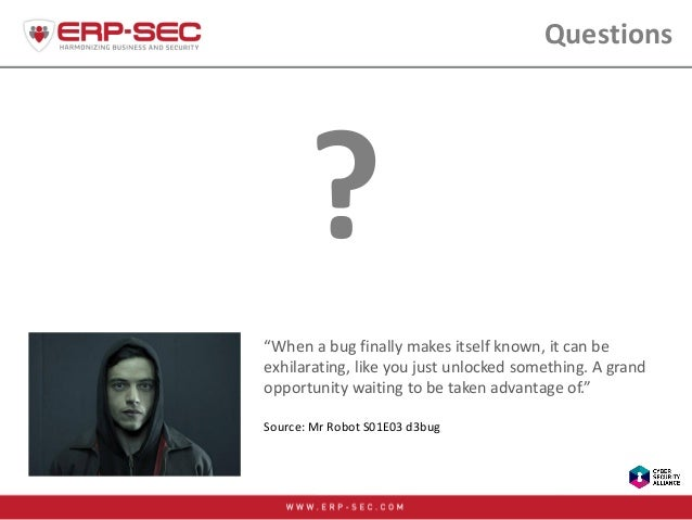"""Questions """"When a bug finally makes itself known, it can be exhilarating, like you just unlocked something. A grand opport..."""