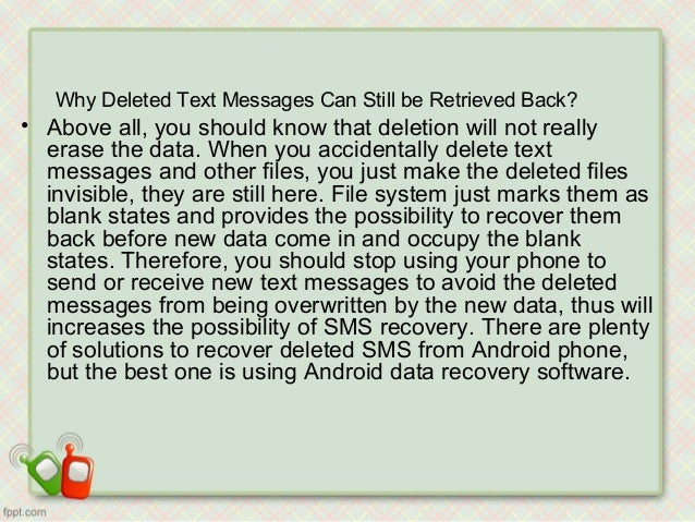 An easy way to recover deleted text messages from android phone