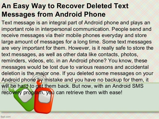how to find deleted text messages on iphone an easy way to recover deleted text messages from android 20835