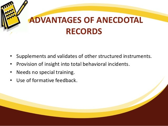 anecdotal observation definition