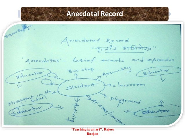 "Anecdotal Record ""Teaching is an art"". Rajeev Ranjan"