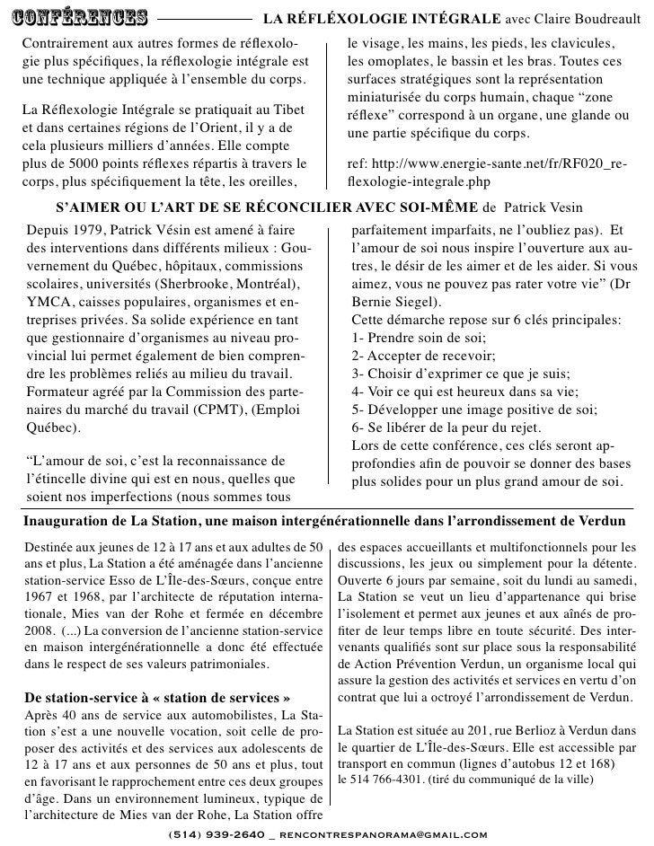 conférences                                 LA RÉFLÉXOLOGIE INTÉGRALE avec Claire BoudreaultContrairement aux autres forme...