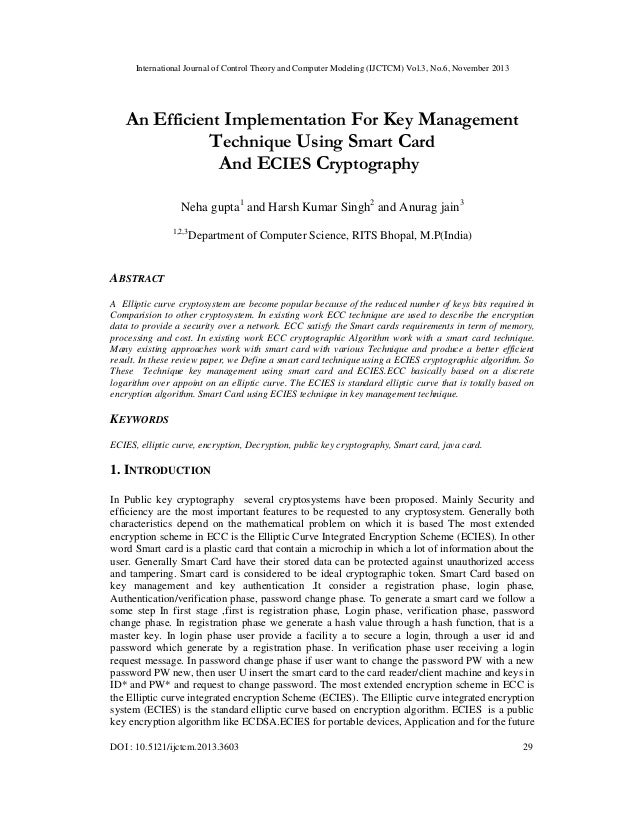 International Journal of Control Theory and Computer Modeling (IJCTCM) Vol.3, No.6, November 2013  An Efficient Implementa...