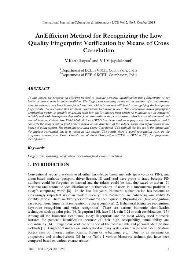 International Journal on Cybernetics & Informatics ( IJCI) Vol.2, No.5, October 2013  An Efficient Method for Recognizing ...