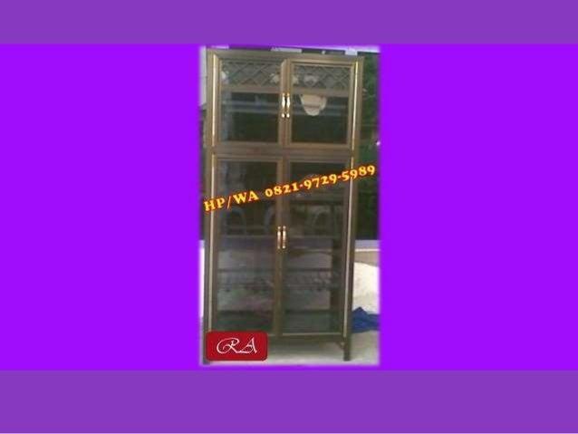Promo 082197295989 Tsel Harga Lemari Kaca Aluminium Makassar
