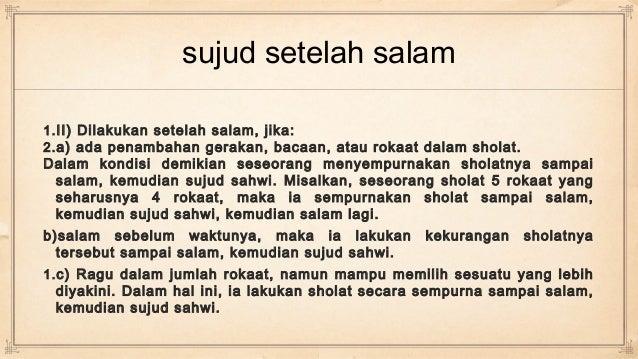 Sujud Tilawah, Sahwi & Syukur