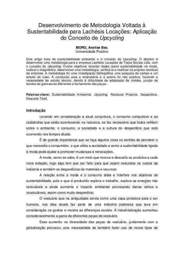 c2494f84ea Desenvolvimento de Metodologia Voltada à Sustentabilidade para Lachésis  Locações  Aplicação do Conceito de Upcycling MORO ...
