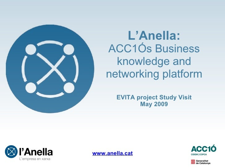 L'Anella: ACC1Ós Business  knowledge and networking platform EVITA project Study Visit May 2009