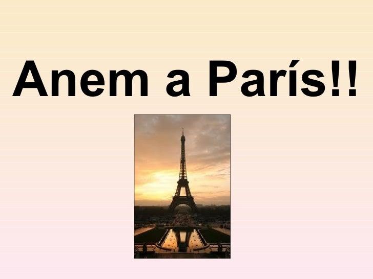 Anem a París!!