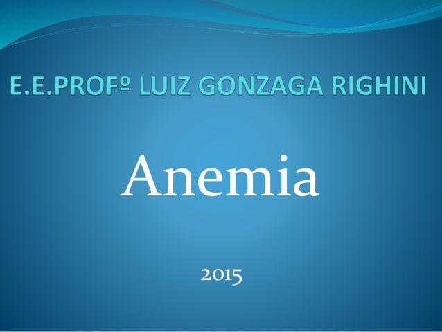 Anemia 2015