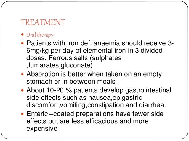 Anemia Classification Clinical Feature Treatment