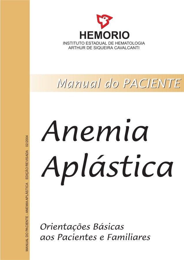 MANUALDOPACIENTE-ANEMIAAPLÁSTICAEDIÇÃOREVISADA02/2004