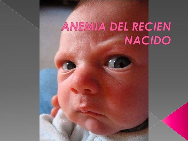 ANEMIA DEL RECIEN NACIDO<br />