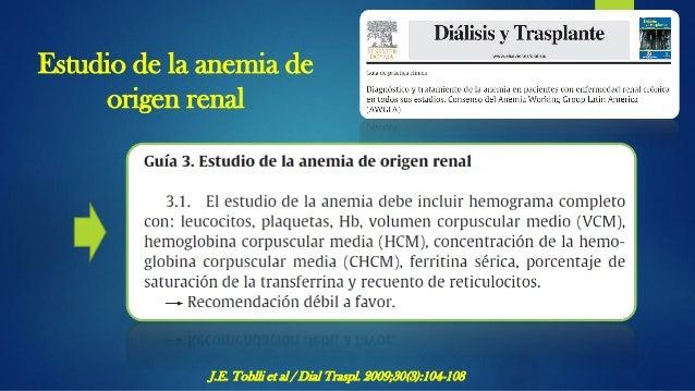 Diagnóstico de ferropenia J.E. Toblli et al / Dial Traspl. 2009;30(3):104-108