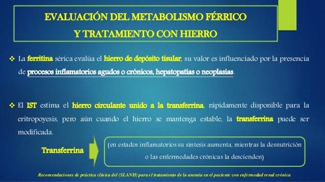OBJETIVOS DE LA SUPLEMENTACIÓN CON HIERRO  Los pacientes con ERC deben tener un balance de Fe adecuado para alcanzar y ma...