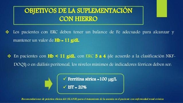 ESTRATEGIAS TERAPÉUTICAS PARA ALCANZAR UN NIVEL ADECUADO DE HEMOGLOBINA