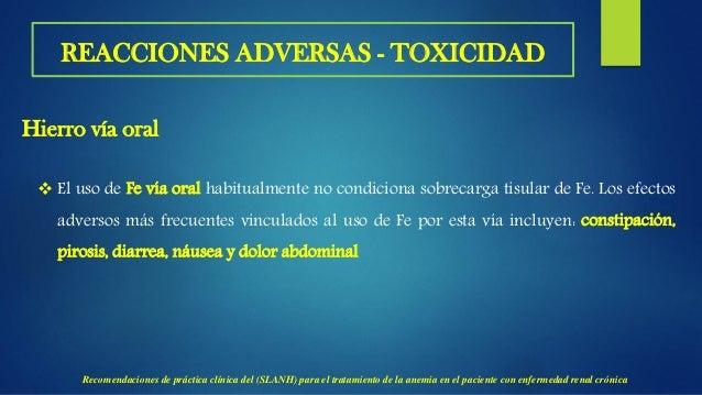  Toxicidad por hierro con niveles de ferritina superiores a 800 μg/L, un estudio clínico observacional en el que se evalu...