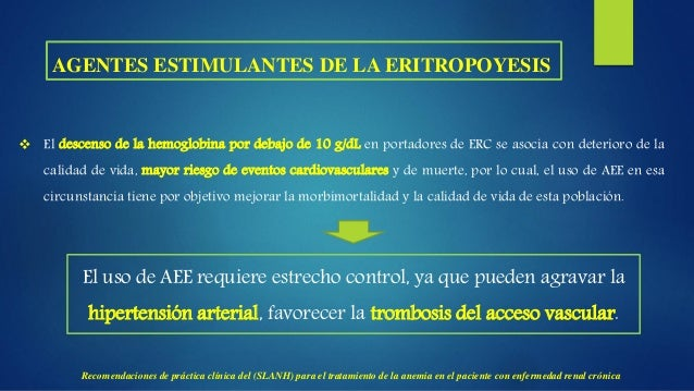 RESPUESTA INADECUADA AL TRATAMIENTO CON AGENTES ESTIMULANTES DE LA ERITROPOYESIS.