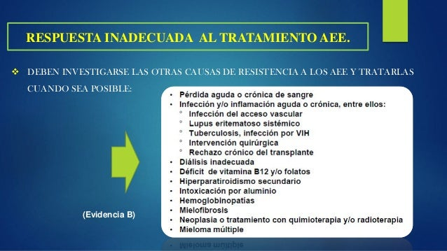 OTROS EFECTOS ADVERSOS ASOCIADOS AL USO DE AEE: EFECTOS ADVERSOS DE LOS AGENTES ESTIMULANTES DE LA ERITROPOYESIS Recomenda...