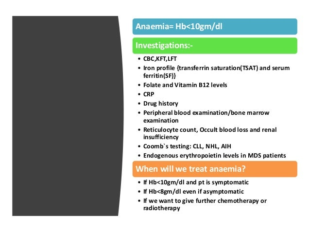 Management of Anemia in cancer patients Slide 2
