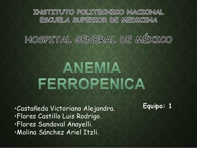 Equipo: 1•Castañeda Victoriano Alejandra. •Flores Castillo Luis Rodrigo. •Flores Sandoval Anayelli. •Molina Sánchez Ariel ...