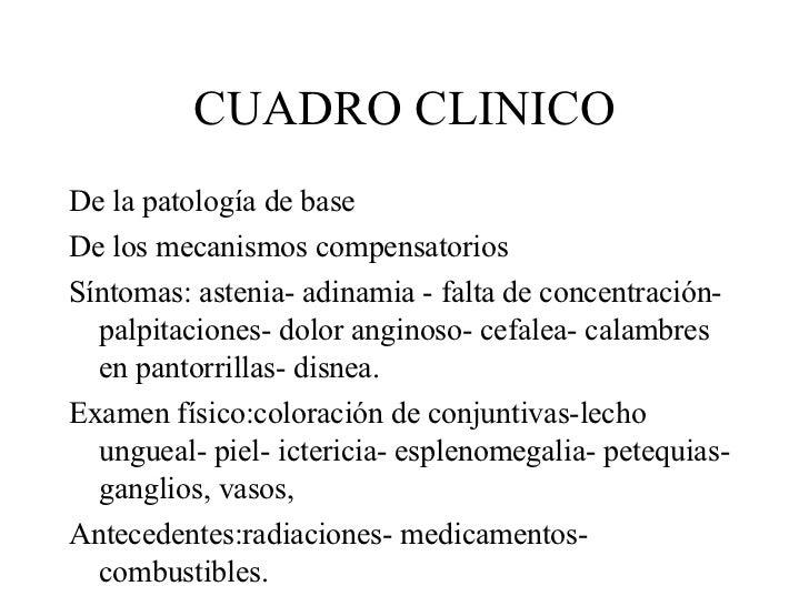 CUADRO CLINICO <ul><li>De la patología de base  </li></ul><ul><li>De los mecanismos compensatorios </li></ul><ul><li>Sínto...