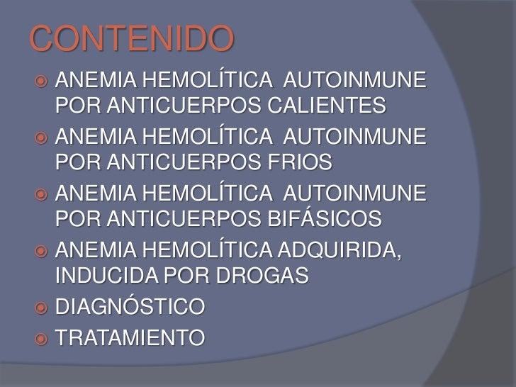 Anemias hemoliticas autoinmunes Slide 2