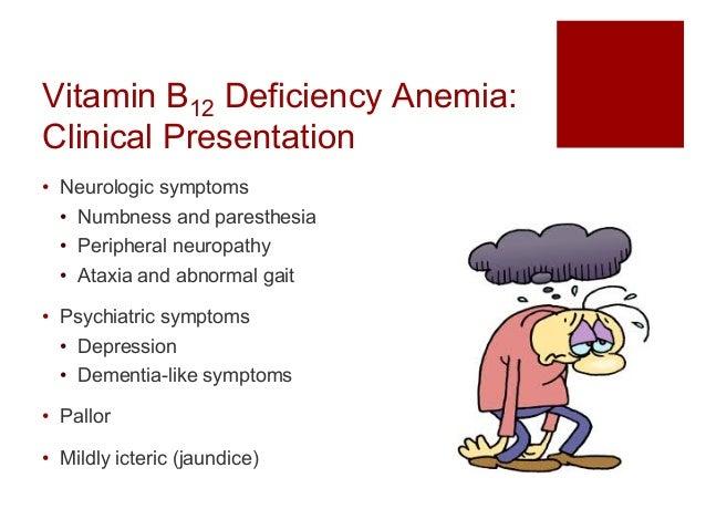 Anemias i B12 Deficiency Symptoms