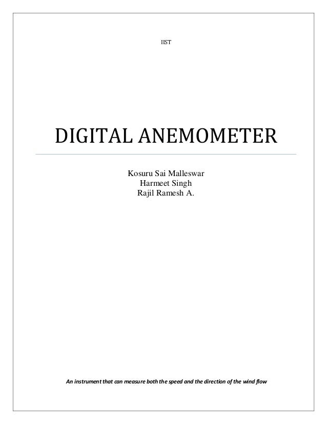 Digital anemometer iistdigital anemometer kosuru sai malleswar ccuart Image collections