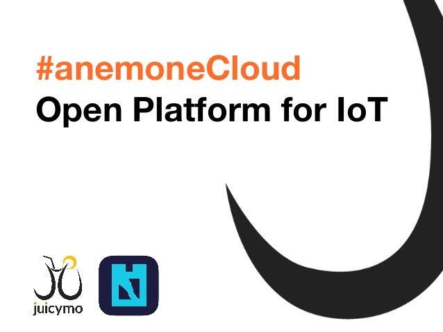 Tomáš Jukin @Inza #anemoneCloud Open Platform for IoT