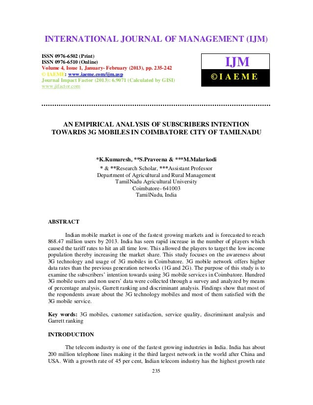 INTERNATIONAL JOURNAL OF (2013) – 6502(Print), ISSN (IJM)  International Journal of Management (IJM), ISSN MANAGEMENT 0976...