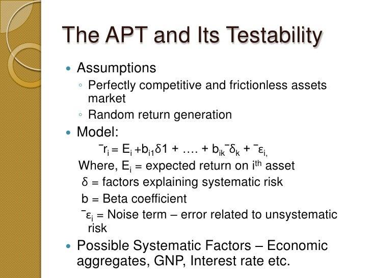 Arbitrage pricing theory?