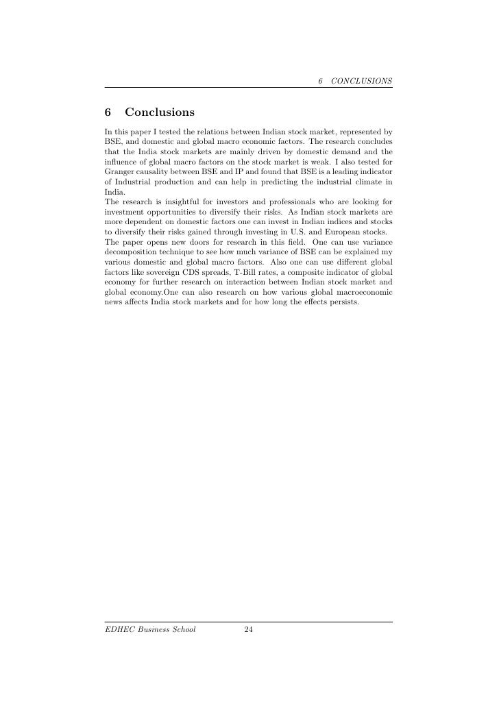 research paper on indian stock market When stock markets were affected by financial crisis shocks the research on this subject matter are very few, particularly in the frame of stock markets in india hence, this paper is an attempt to provide some empirical evidence on efficiency in indian stock market as a result of recent global financial crisis the remaining.