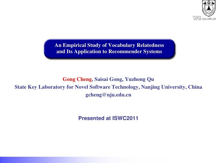 .nju.edu.cn                An Empirical Study of Vocabulary Relatedness                and Its Application to Recommender ...