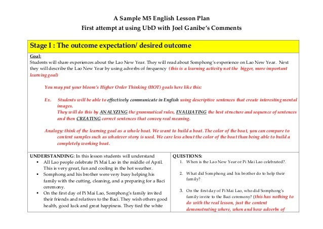 A first attempt at ubd lesson plan with some comments - Understanding by design math unit plans ...