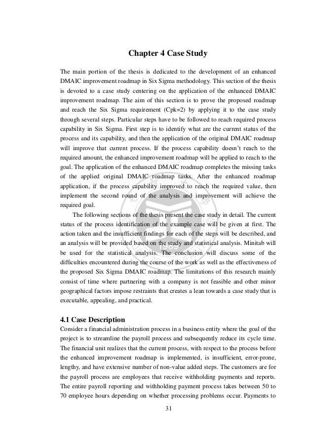 Master thesis six sigma