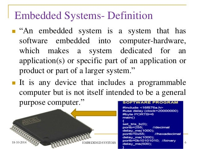 An Entire Concept Of Embedded Systems Entire Ppt