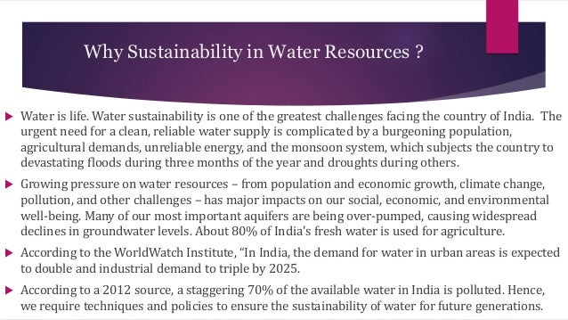 Water a sustainable resource essay