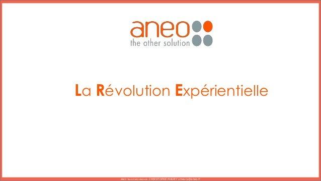 La Révolution Expérientielle ANEO Tous droits réservés CHRISTOPHE MAURY cmaury@aneo.fr