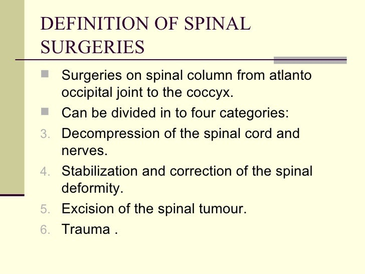 Anes cons in spinal surgeries