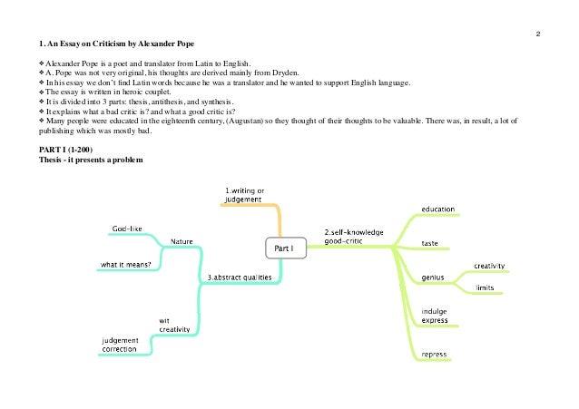 essay on criticism analysis pdf