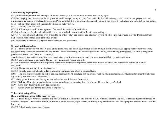 an essay on criticism part 1