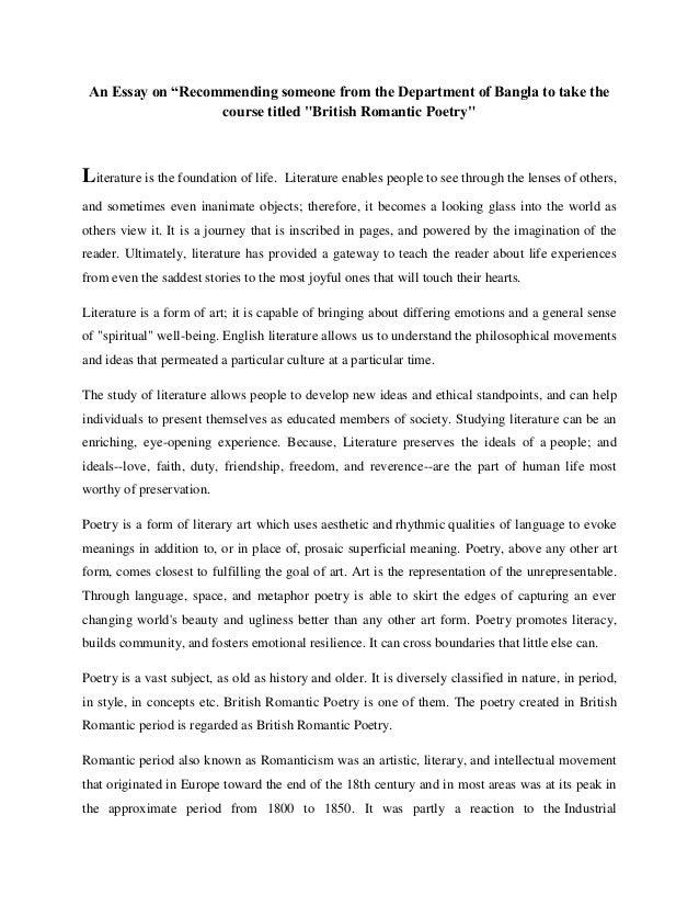 Essay On Romanticism  English Debate Essay also Typing Companies  Apa Style Essay Paper