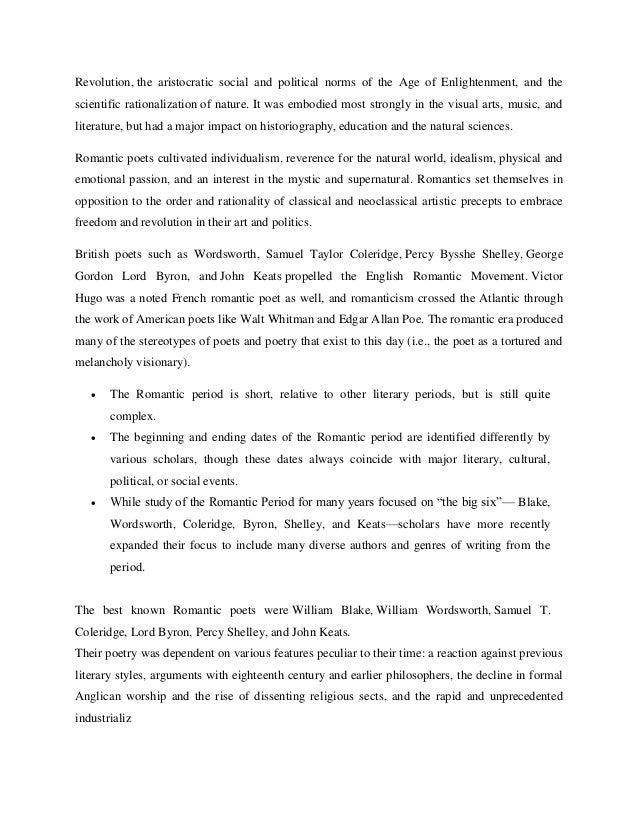 William Wordsworth Essays (Examples)