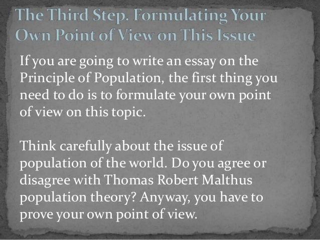 essays on the principles of population malthus Free essay: thomas malthus and charles lyell were two figures who influenced darwin's theories malthus was an influence through his book on the population.