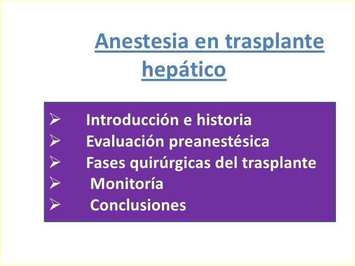 Anestesia En Trasplante HepáTico Slide 2