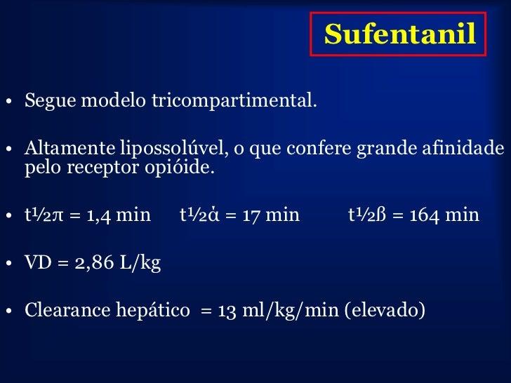 não       Coeficiente Meia-vida Meia –vida contexto             ionizada %    partição    Elim (h)   dep (min)-infusão 4 h...