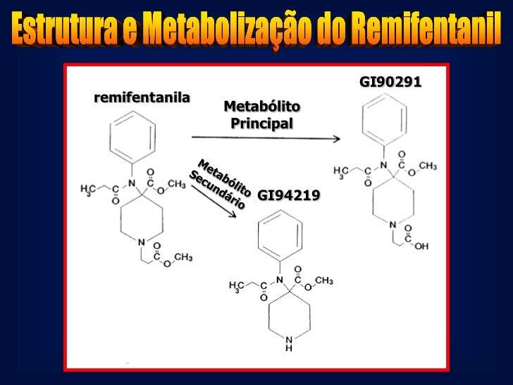 Remifentanil em Situações            Especiais•    Insuficiência Renal e Hepática :    Metabólito GR90291 acumula 200 X ma...