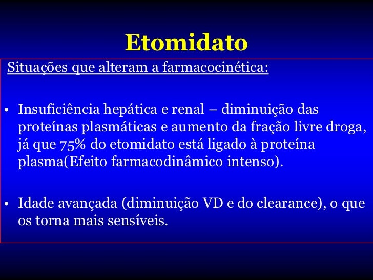 Cetamina• Farmacocinética:• Obedece modelo tricompartimental –  após administração venosa, a queda da  cp. Tem característ...